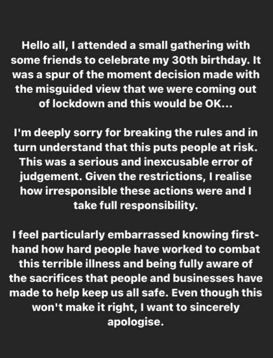 Певица Рита Ора извинилась за вечеринку по случаю дня рождения