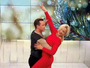 Лилия Ребрик с мужем исполнили страстное танго в прямом эфире