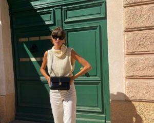 Сучасний аутфіт на осінь: Жюлі Феррері позувала у французькому містечку